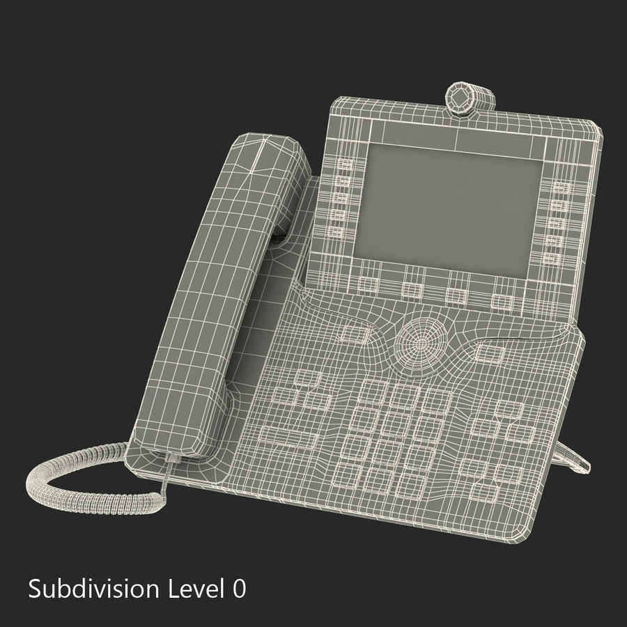 Telefone IP Cisco 8865 royalty-free 3d model - Preview no. 17
