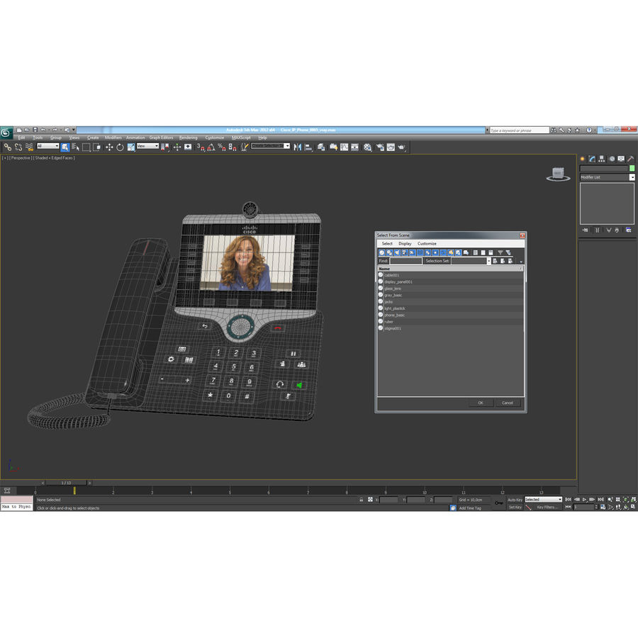 Telefone IP Cisco 8865 royalty-free 3d model - Preview no. 21