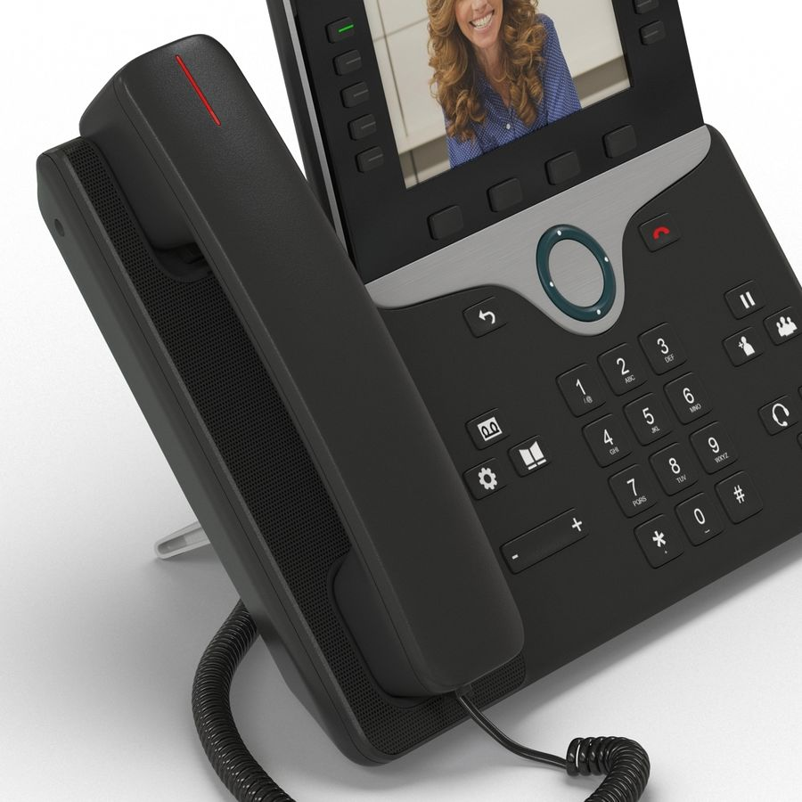 Telefone IP Cisco 8865 royalty-free 3d model - Preview no. 12