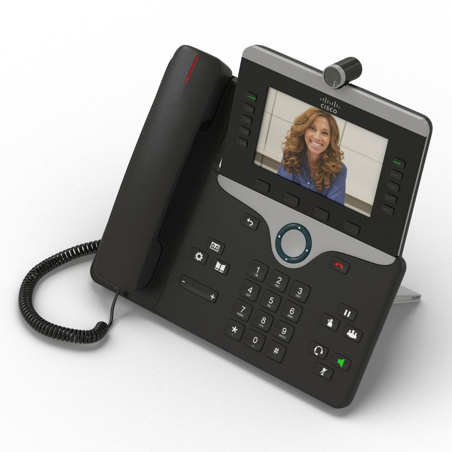 Telefone IP Cisco 8865 royalty-free 3d model - Preview no. 5