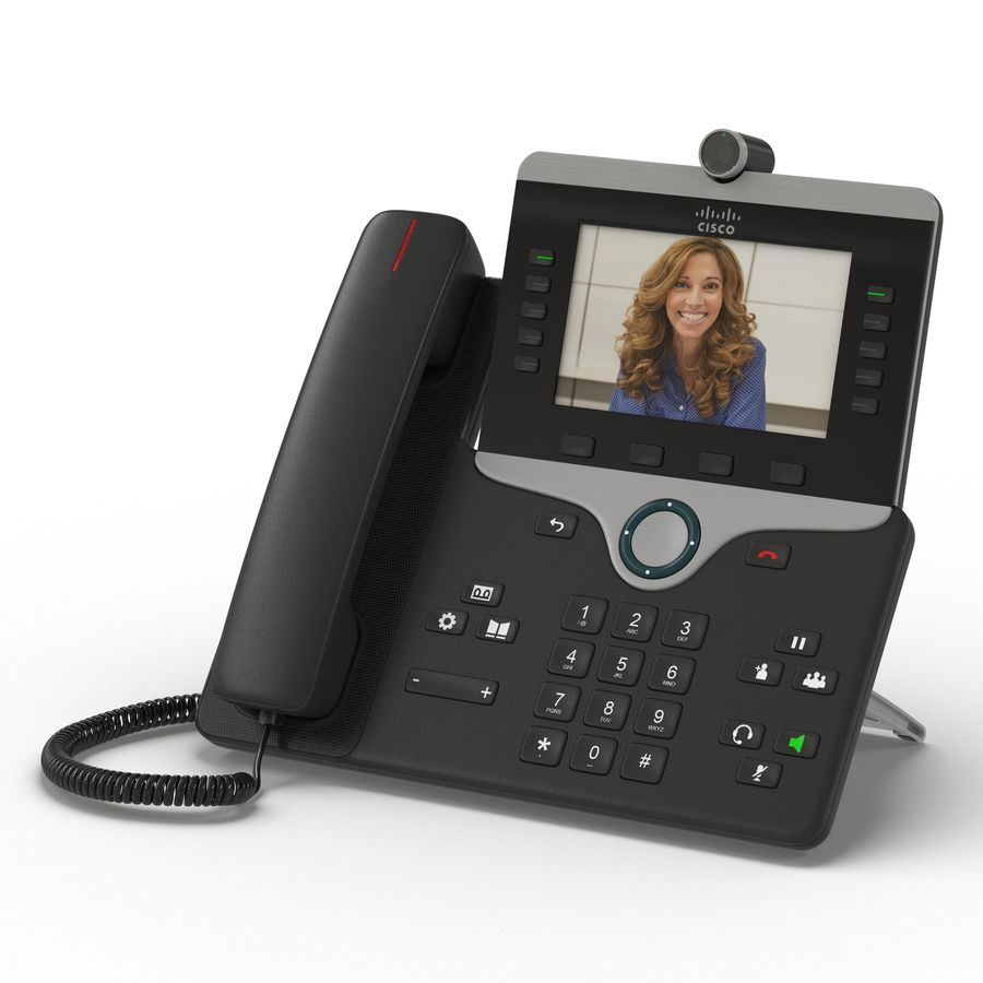 Telefone IP Cisco 8865 royalty-free 3d model - Preview no. 2