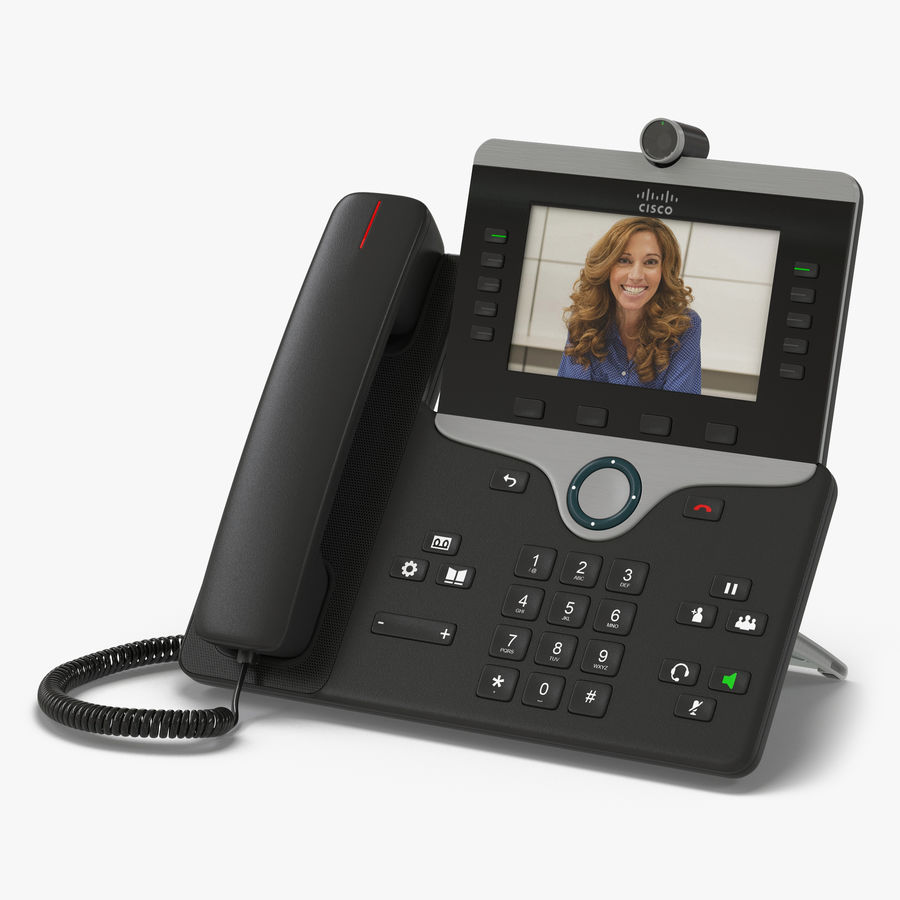 Telefone IP Cisco 8865 royalty-free 3d model - Preview no. 1