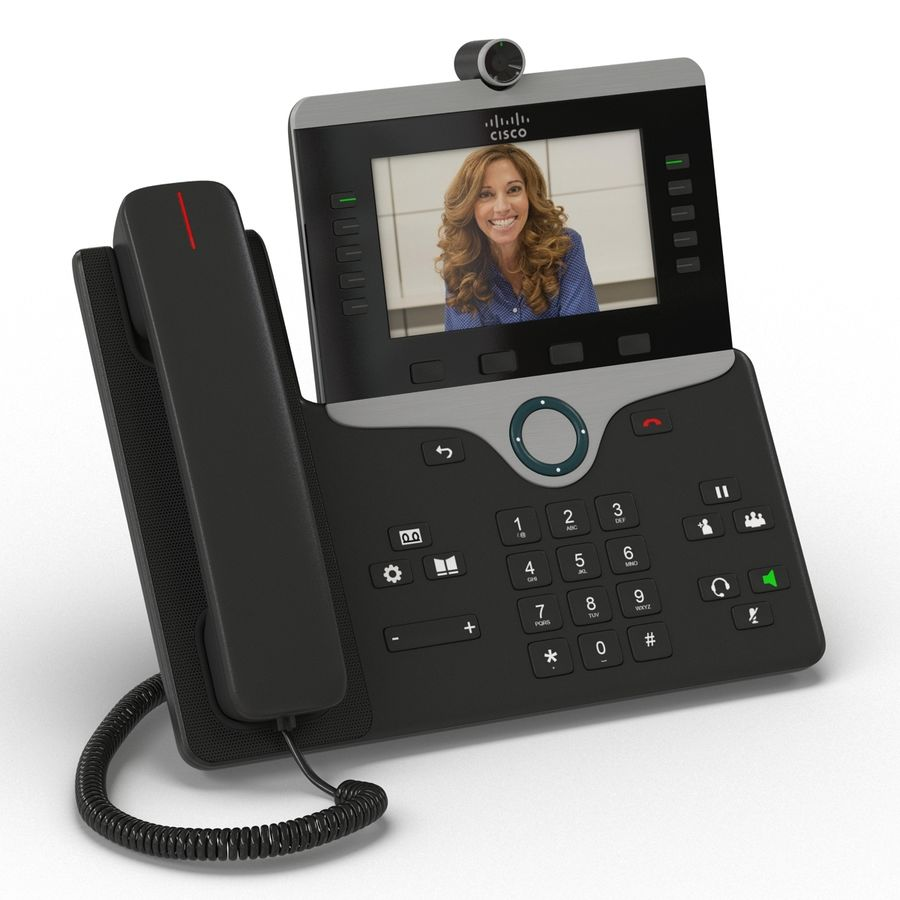 Telefone IP Cisco 8865 royalty-free 3d model - Preview no. 3