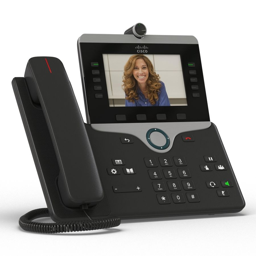 Telefone IP Cisco 8865 royalty-free 3d model - Preview no. 4
