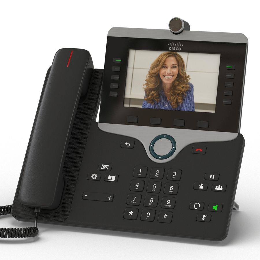 Telefone IP Cisco 8865 royalty-free 3d model - Preview no. 8