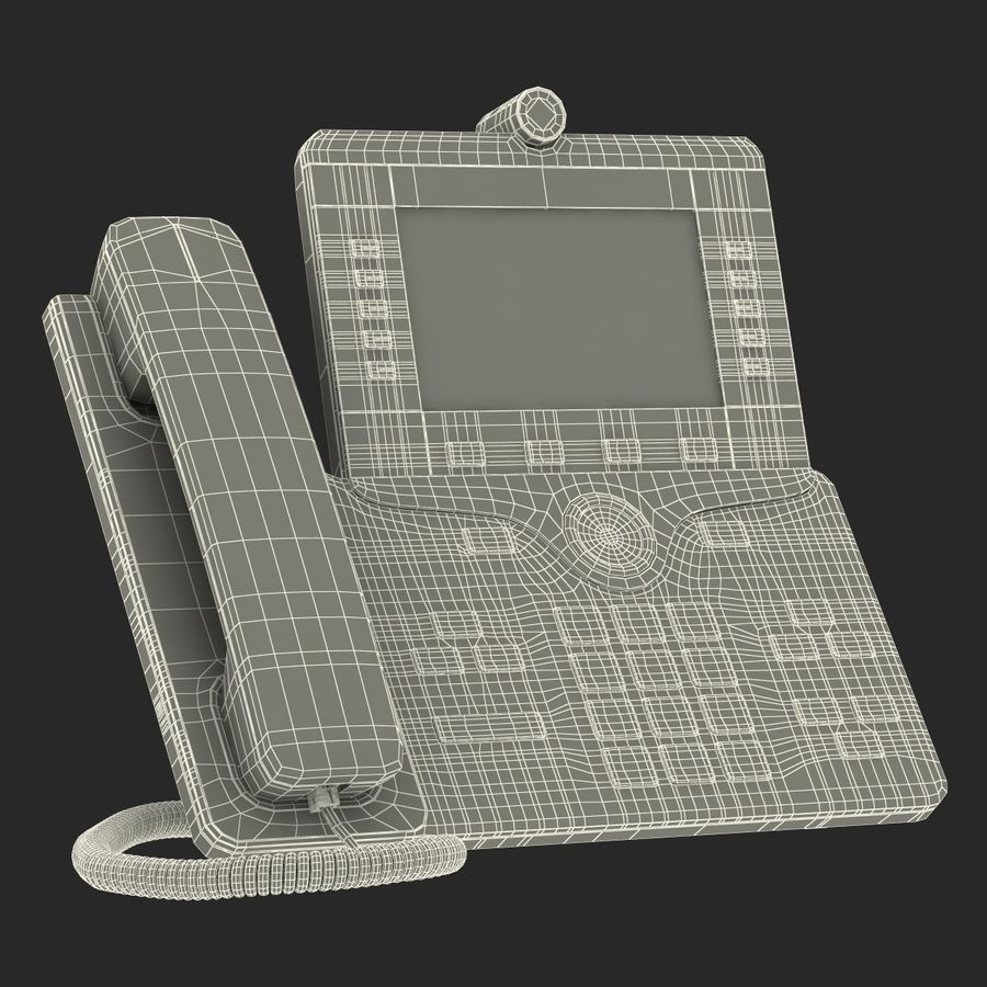 Telefone IP Cisco 8865 royalty-free 3d model - Preview no. 23