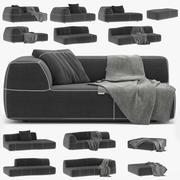 sofá dobrado _011 3d model