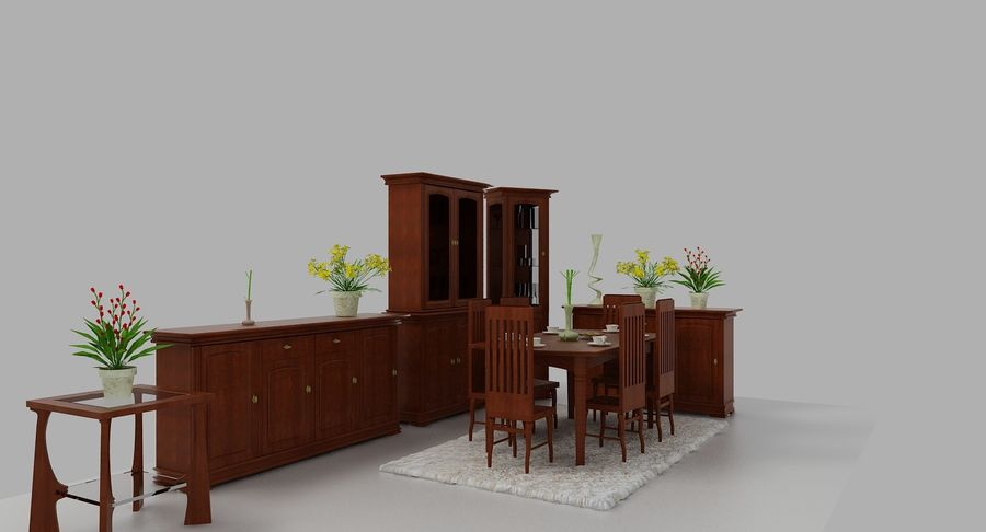 Classic Furniture(1) royalty-free 3d model - Preview no. 5