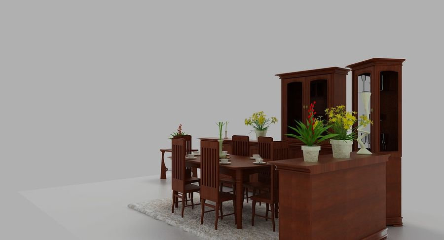 Classic Furniture(1) royalty-free 3d model - Preview no. 6