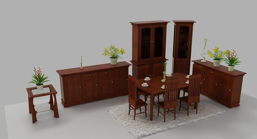 Classic Furniture(1) royalty-free 3d model - Preview no. 3