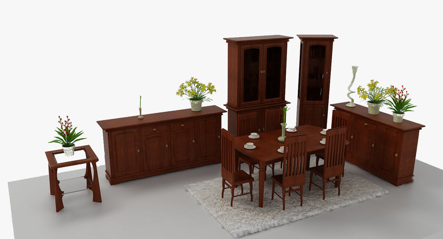 Classic Furniture(1) royalty-free 3d model - Preview no. 2