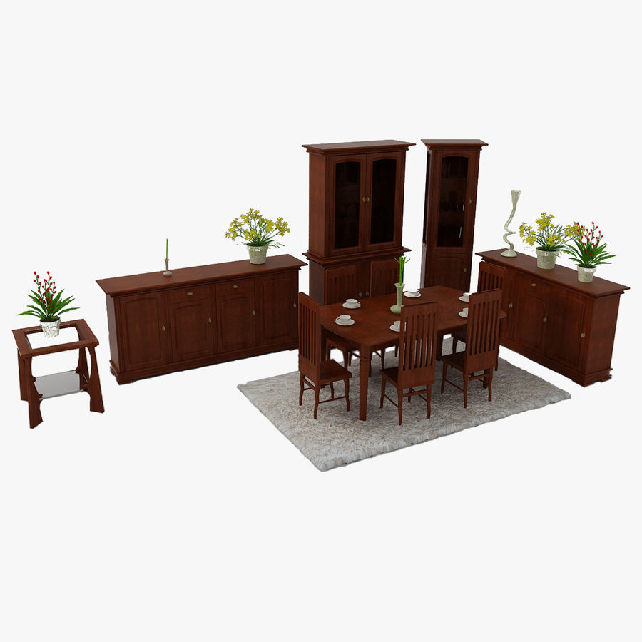 Classic Furniture(1) royalty-free 3d model - Preview no. 1