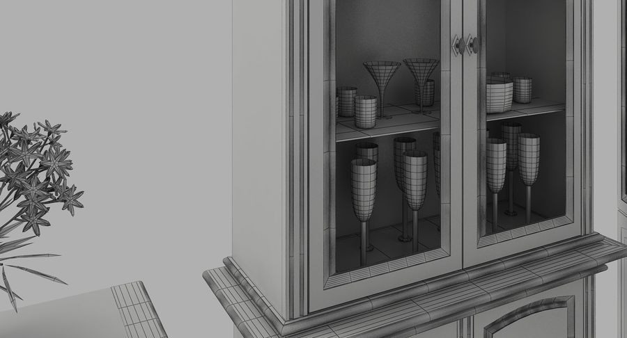 Classic Furniture(1) royalty-free 3d model - Preview no. 12