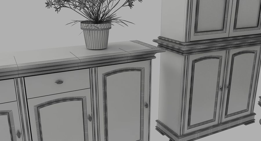 Classic Furniture(1) royalty-free 3d model - Preview no. 11