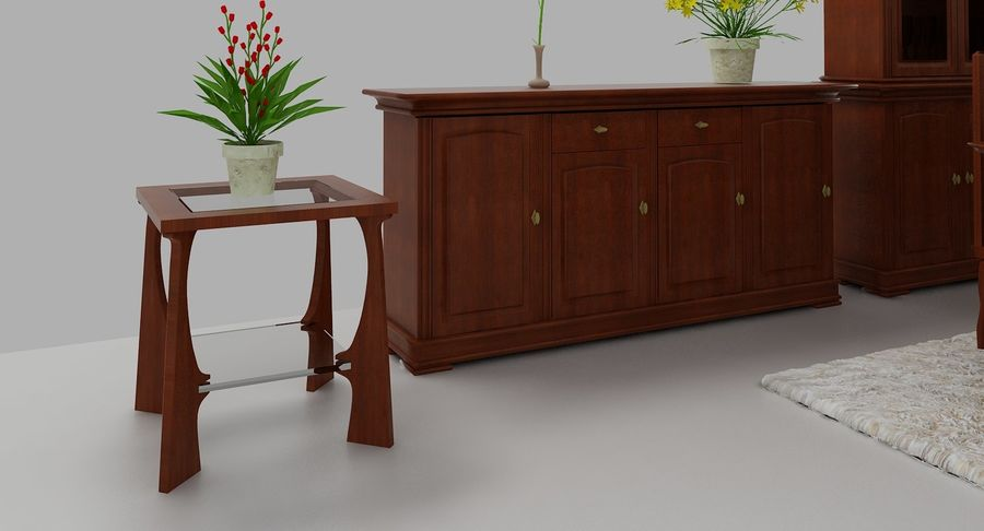 Classic Furniture(1) royalty-free 3d model - Preview no. 7