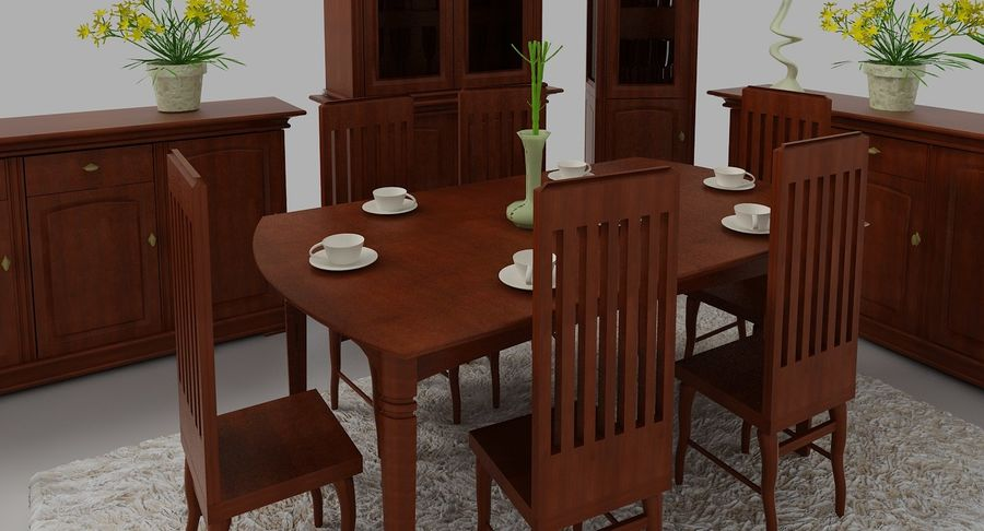 Classic Furniture(1) royalty-free 3d model - Preview no. 4