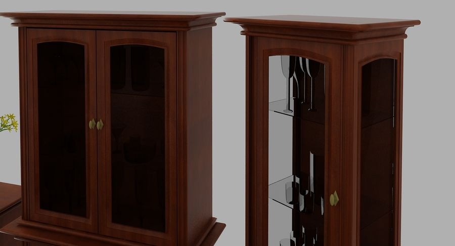 Muebles Clásicos (1) royalty-free modelo 3d - Preview no. 8