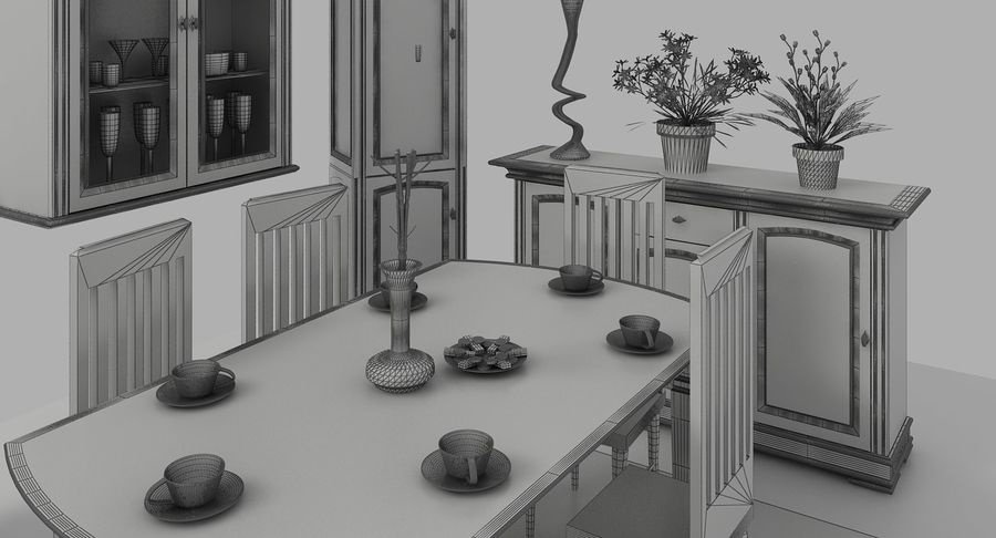 Classic Furniture(1) royalty-free 3d model - Preview no. 13