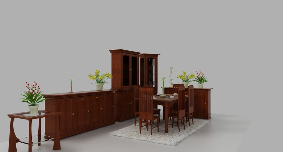Muebles Clásicos (1) royalty-free modelo 3d - Preview no. 5