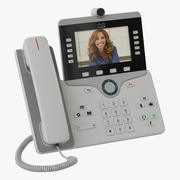Telefone IP Cisco 8865 Branco 3d model