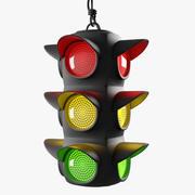 Traffic Light 02 (Rigged) 3d model
