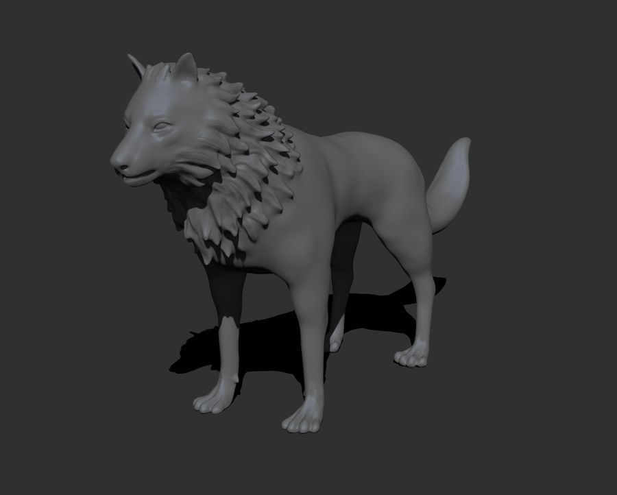 lupo royalty-free 3d model - Preview no. 9