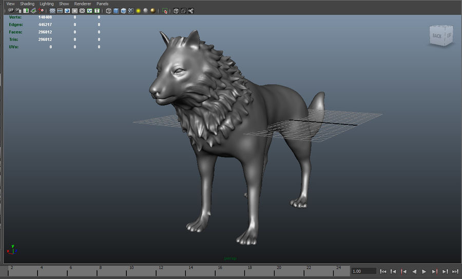 lupo royalty-free 3d model - Preview no. 10