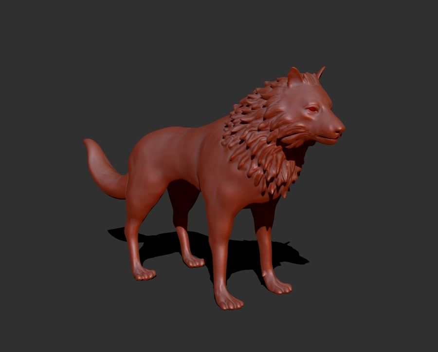 lupo royalty-free 3d model - Preview no. 3