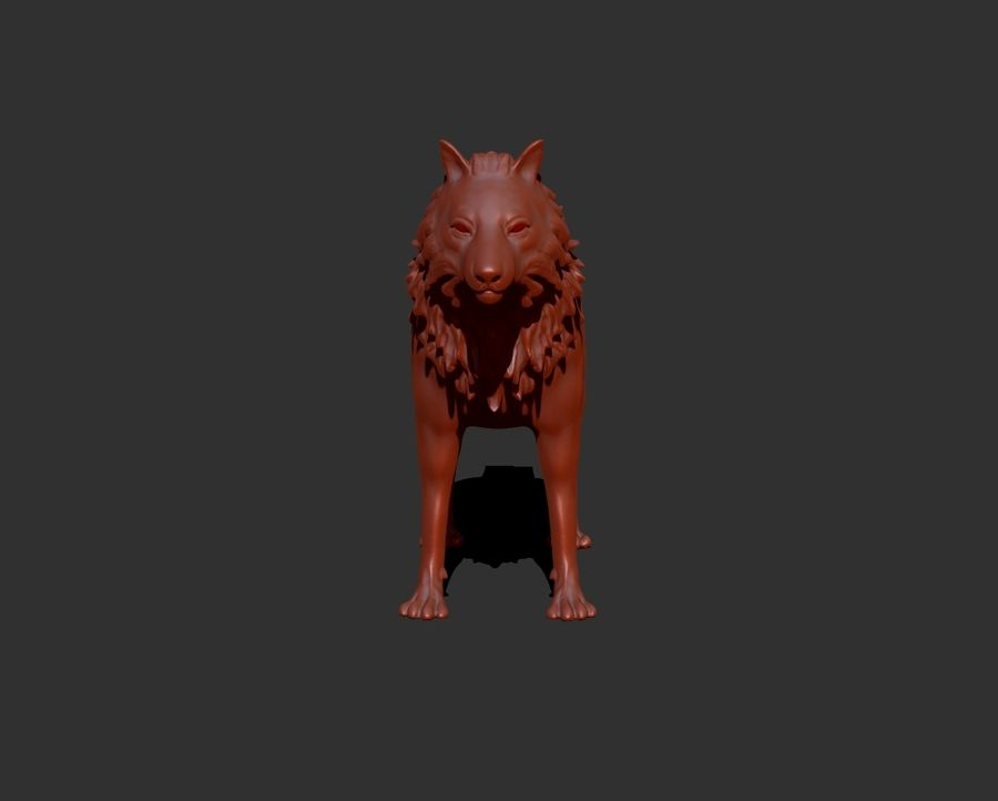 lupo royalty-free 3d model - Preview no. 5