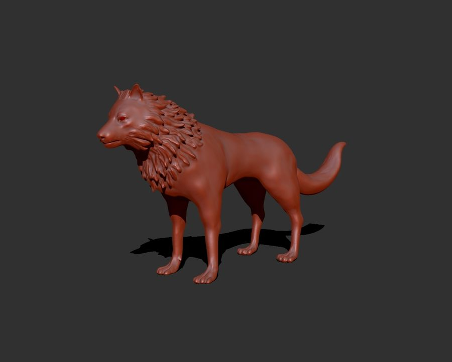 狼 royalty-free 3d model - Preview no. 1