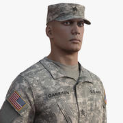Солдат армии США 3d model