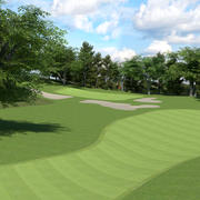 Campo de golf modelo 3d