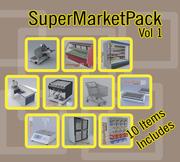 Galeria de Supermercados de Equipamentos 3d model