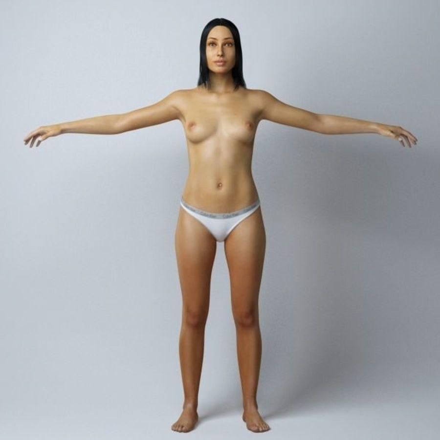 Piękna kobieta royalty-free 3d model - Preview no. 3