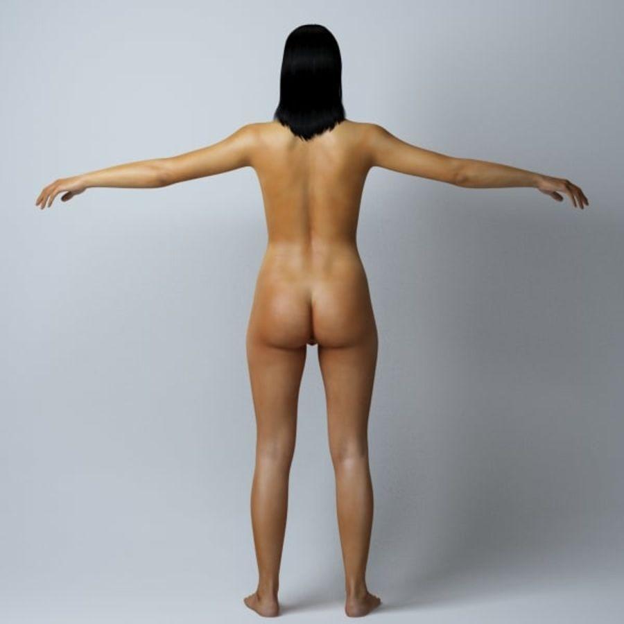 Piękna kobieta royalty-free 3d model - Preview no. 6