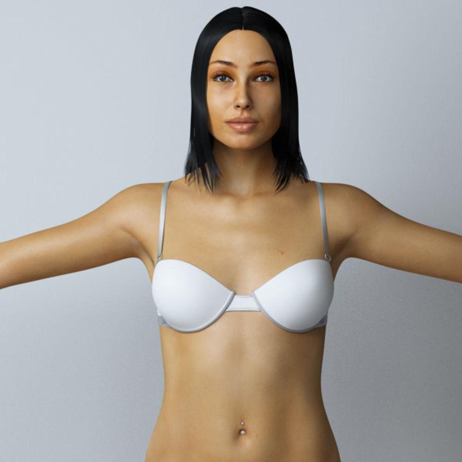 Piękna kobieta royalty-free 3d model - Preview no. 7
