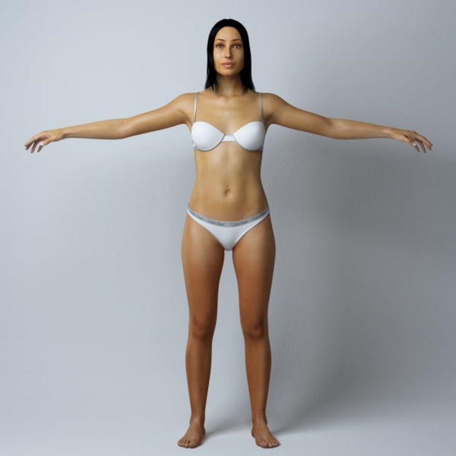 Piękna kobieta royalty-free 3d model - Preview no. 1