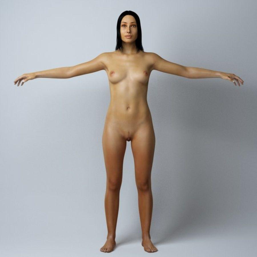 Piękna kobieta royalty-free 3d model - Preview no. 5