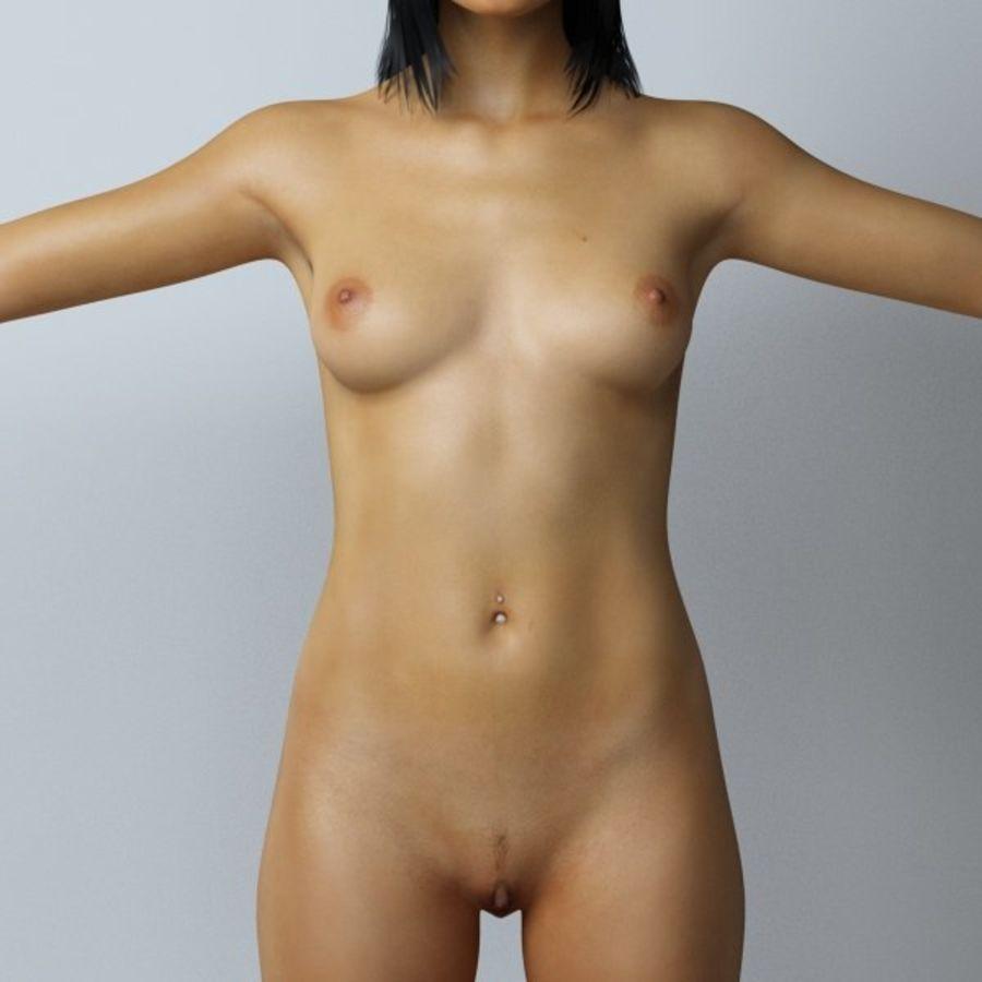 Piękna kobieta royalty-free 3d model - Preview no. 8