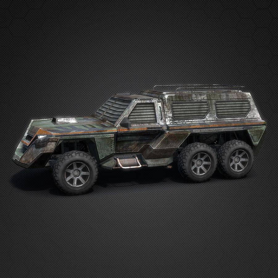 Военный автомобиль внедорожник royalty-free 3d model - Preview no. 3