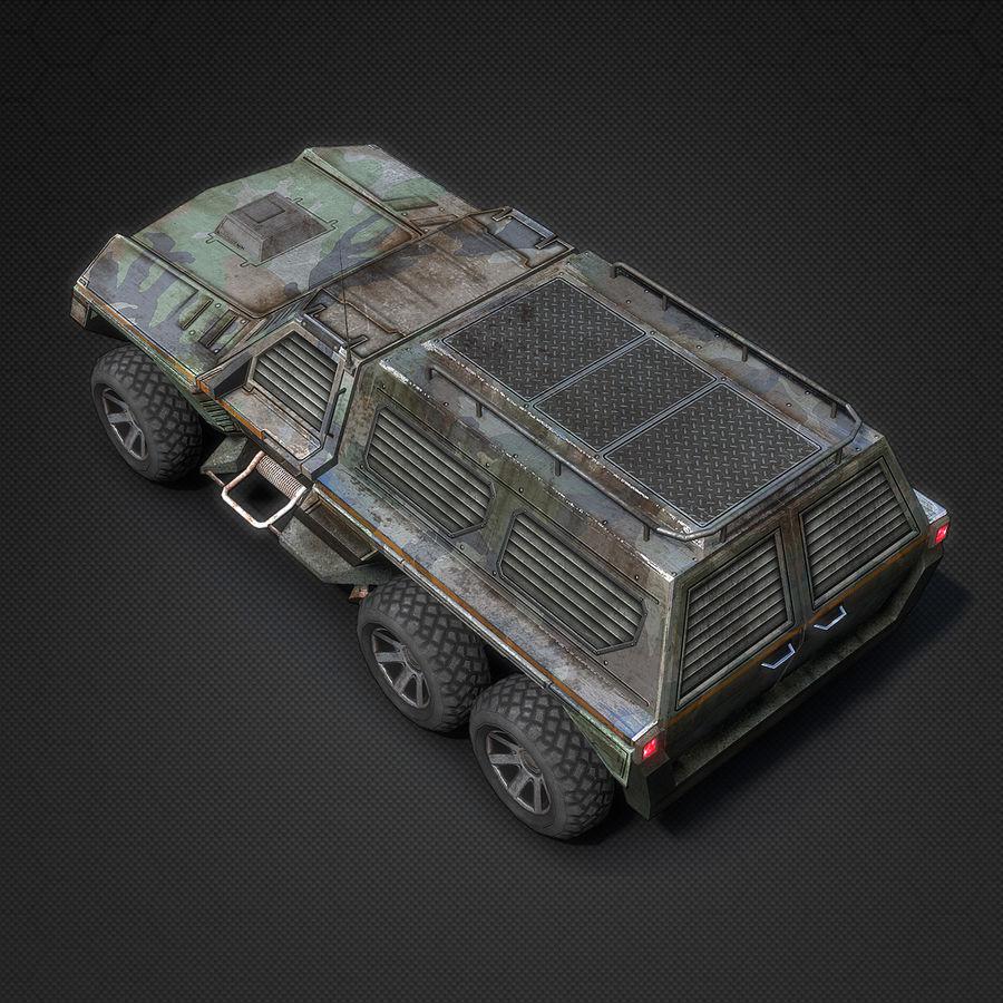 Военный автомобиль внедорожник royalty-free 3d model - Preview no. 6