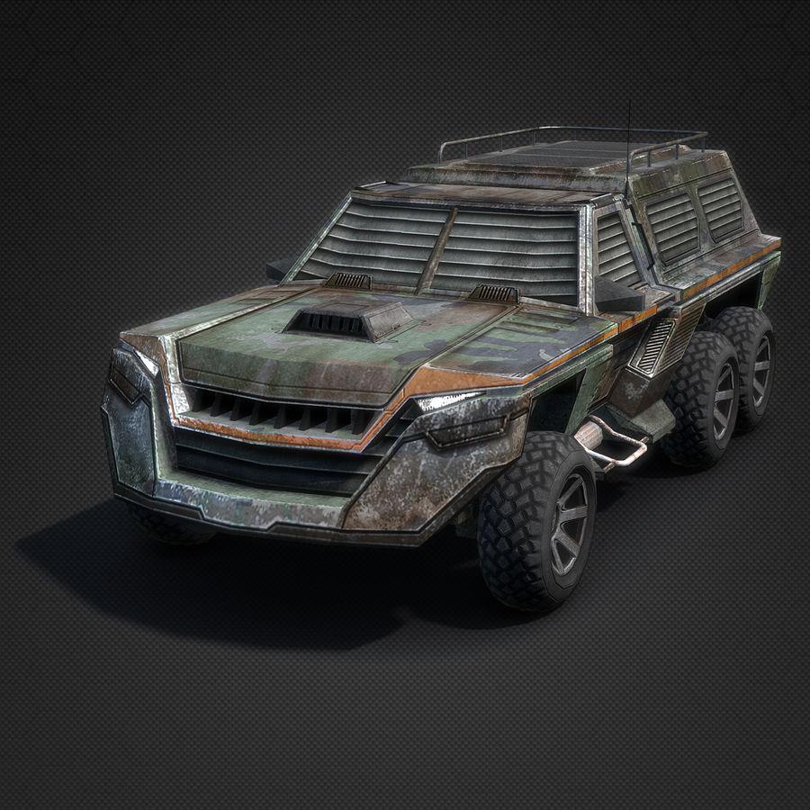 Военный автомобиль внедорожник royalty-free 3d model - Preview no. 2