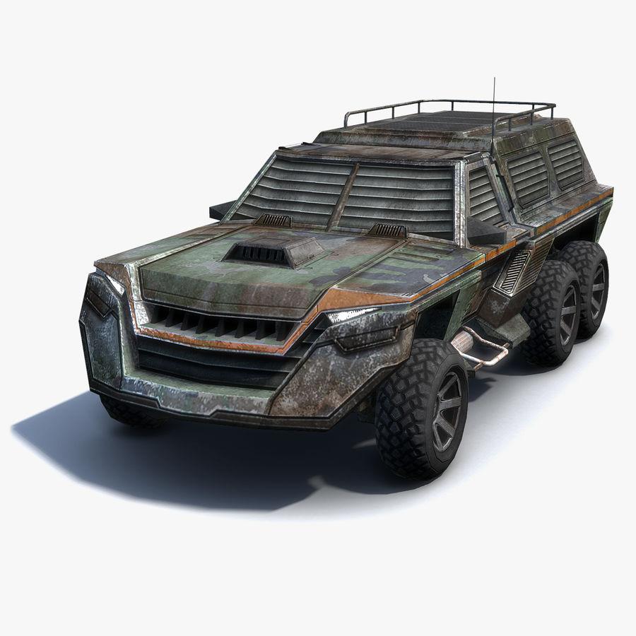 Военный автомобиль внедорожник royalty-free 3d model - Preview no. 1