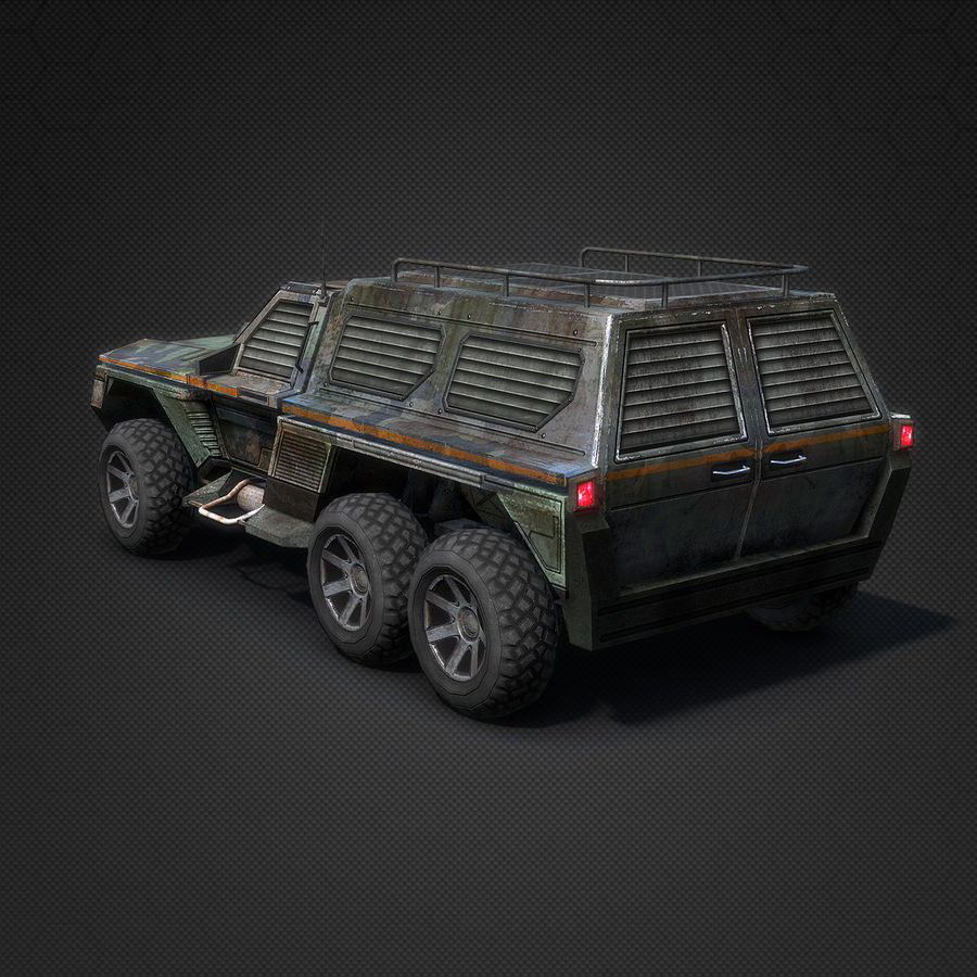 Военный автомобиль внедорожник royalty-free 3d model - Preview no. 4