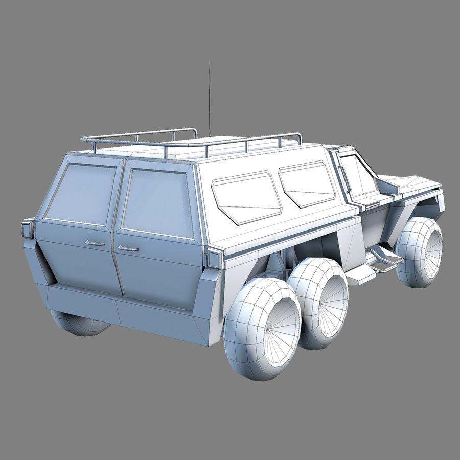 Военный автомобиль внедорожник royalty-free 3d model - Preview no. 8