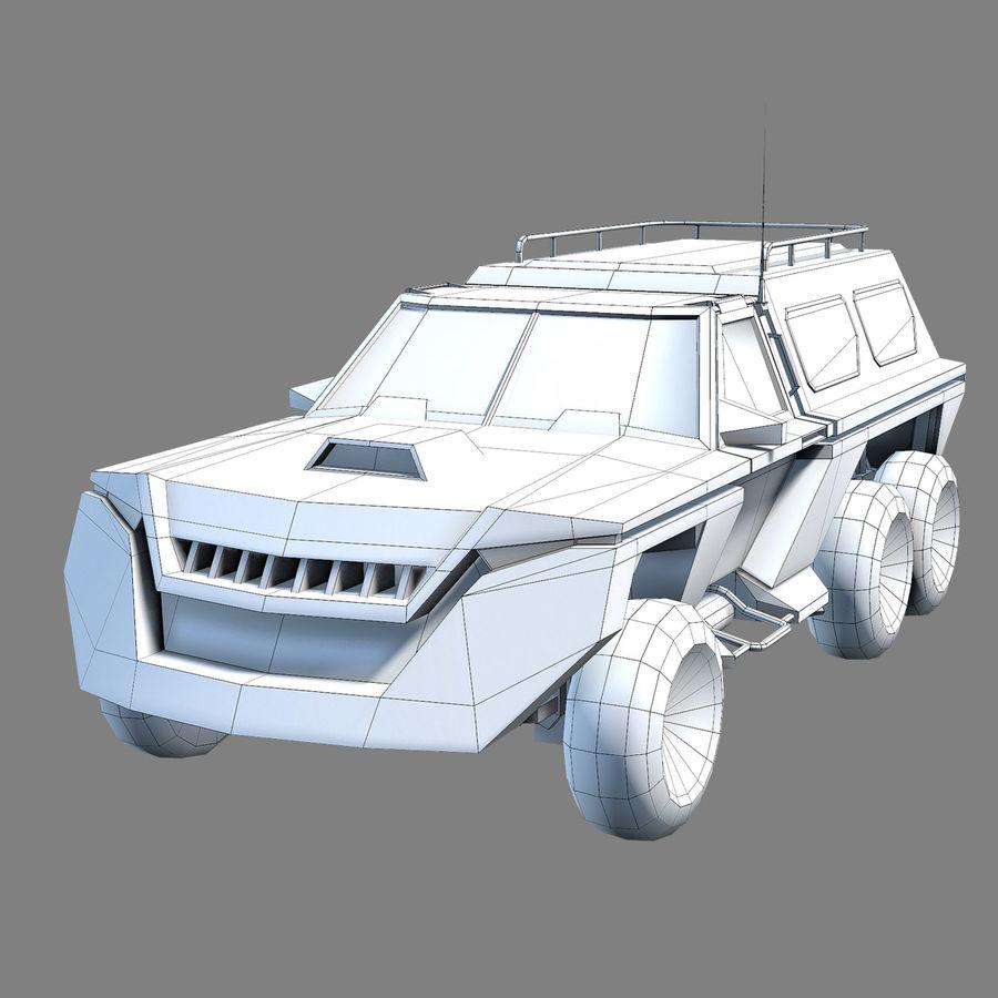 Военный автомобиль внедорожник royalty-free 3d model - Preview no. 7