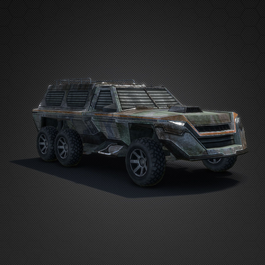 Военный автомобиль внедорожник royalty-free 3d model - Preview no. 5