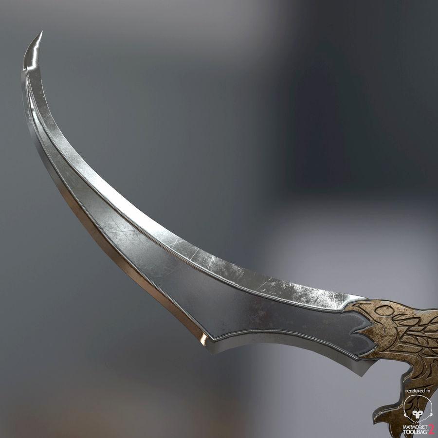 Set de armas de corte royalty-free modelo 3d - Preview no. 40