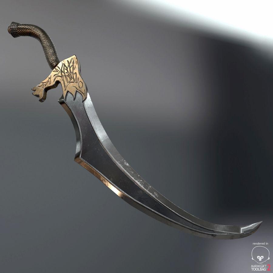 Set de armas de corte royalty-free modelo 3d - Preview no. 38