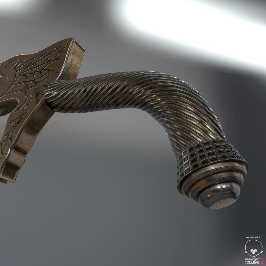 Set de armas de corte royalty-free modelo 3d - Preview no. 41